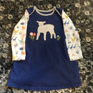 Baby Boden Lamb farm dress tunic 18-24 months